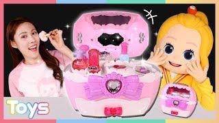 캐리의 꼬마엘리 메이크업! 웨딩미미 화장 가방 장난감 놀이ㅣ캐리와장난감친구들
