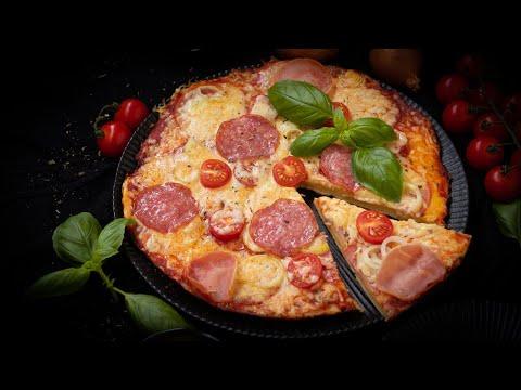 Pfannenpizza,ohne Hefe, die