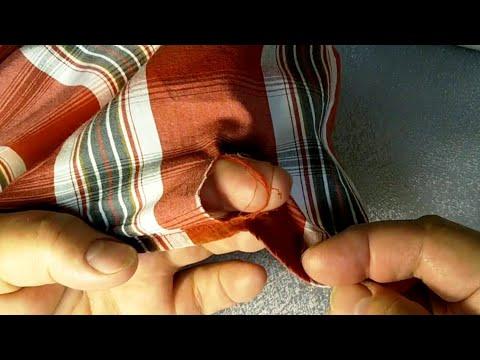 Как заштопать дырку на рубашке