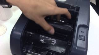 how to install film and sticker in tsc ttp 247 barcode printer