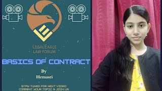 LEGALEAGLE ENVOYS! What is Indian Contract Act? (explained by Hemasri)