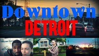 Жизнь в США: Прогулка в Центре Детройта/Здание GM, Detroit Downtown, Windsor Canada