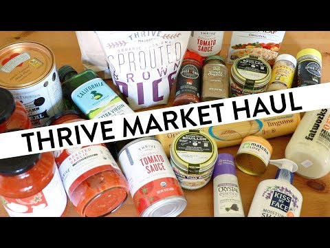 Thrive Market Haul & Unboxing | Healthy Food for my Weight Watchers Program