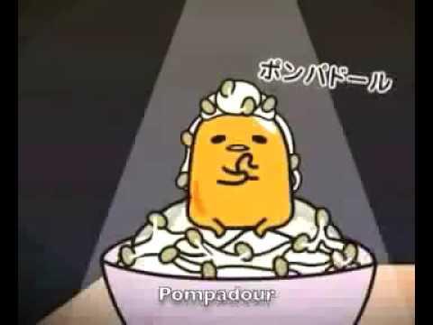 Gudetama Video Natto Hair Video (Pompadour)