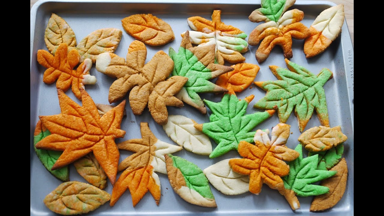 ǧ‹è'‰æ›²å¥‡ How To Make Leaf Cookies Without Cookie Cutter Youtube