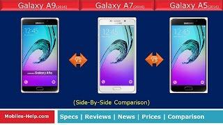samsung galaxy a9 2016 vs a7 2016 vs a5 2016 fast comparison