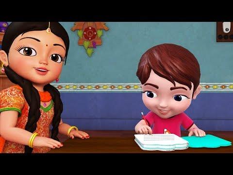 Homework, Homework! Hota Hai Accha! | Hindi Rhymes for Children | Infobells