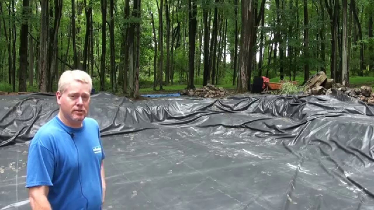Large koi pond renovation project in frenchtown nj youtube for Giant koi pond