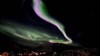 Real-time video of aurora near Tromso.