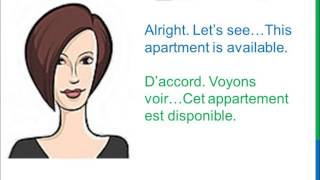Dialogue 84 - English French Anglais Français - Rent an apartment - Appartement à louer
