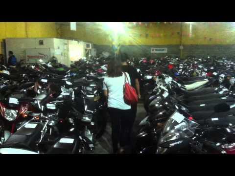 Depot of repossessed motorcycles in Manila.
