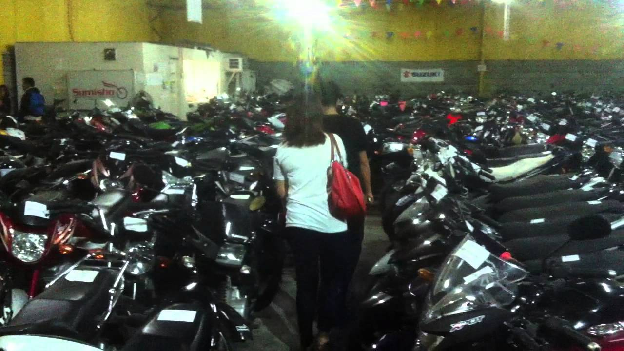 2300b66ddc Depot of repossessed motorcycles in Manila. - YouTube