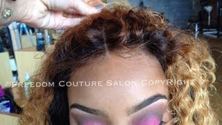 Repeat youtube video Beyonce Inspired Lace Closure Install&Hair Line NO GLUE with Cambodian Curly hair