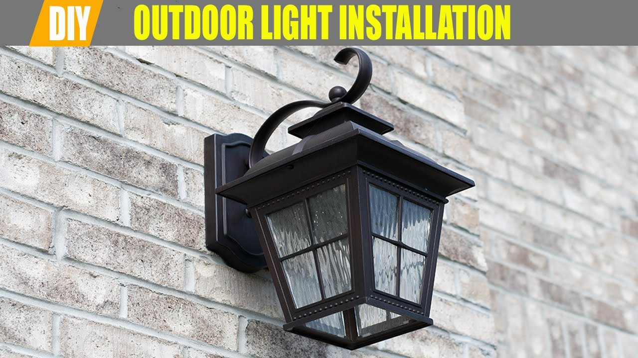 How To Install Outdoor Lighting Fixtures Costco Led