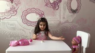 Play with Baby Born interactive doll. Kids video.