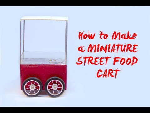 How to Make a MINIATURE STREET FOOD CART (Using POLYMER CLAY & CRAFT WOOD)