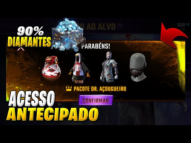 ACESSO ANTECIPADO DR AÇOUGUEIRO, BÔNUS 90% DIAMANTES, BARBA PRETA DE VOLTA, NOVA CAIXA CHEGANDO!