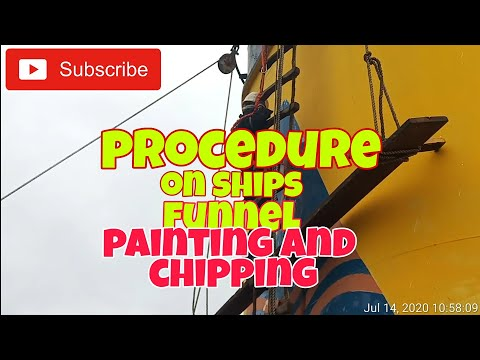A Very Risky Ships Funnel Maintenance/How its Done   #shipsfunnelmaintenance #shipsmaintenance
