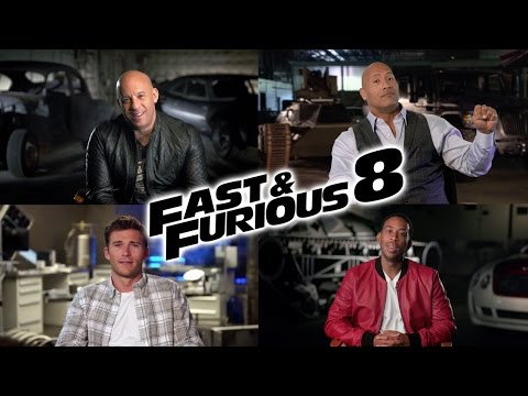 The Fate of the Furious - Cast Interviews (2017) Vin Diesel, Dwayne Johnson Action Movie HD