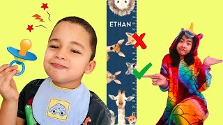 Ethan wants to be a little baby & jump on a trampoline