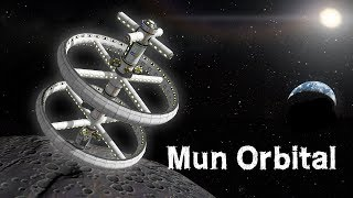 KSP: Artificial Gravity Station around the Mun!