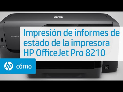 Impresión de informes de estado de la impresora HP OfficeJet Pro 8210 | HP OfficeJet | HP