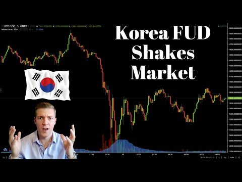 Crypto Market Crashes (Then Recovers) on South Korea Crypto Trading Ban FUD