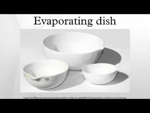 Evaporating dish - YouTube