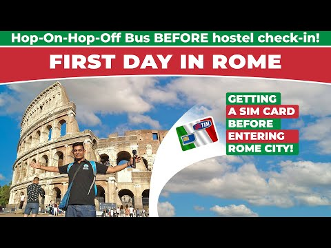 Italy Travel Vlog Day 1: Rome Hop-On-Hop-Off Bus