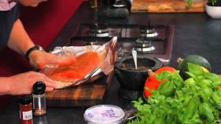 Simply Healthy Salmon Wrap
