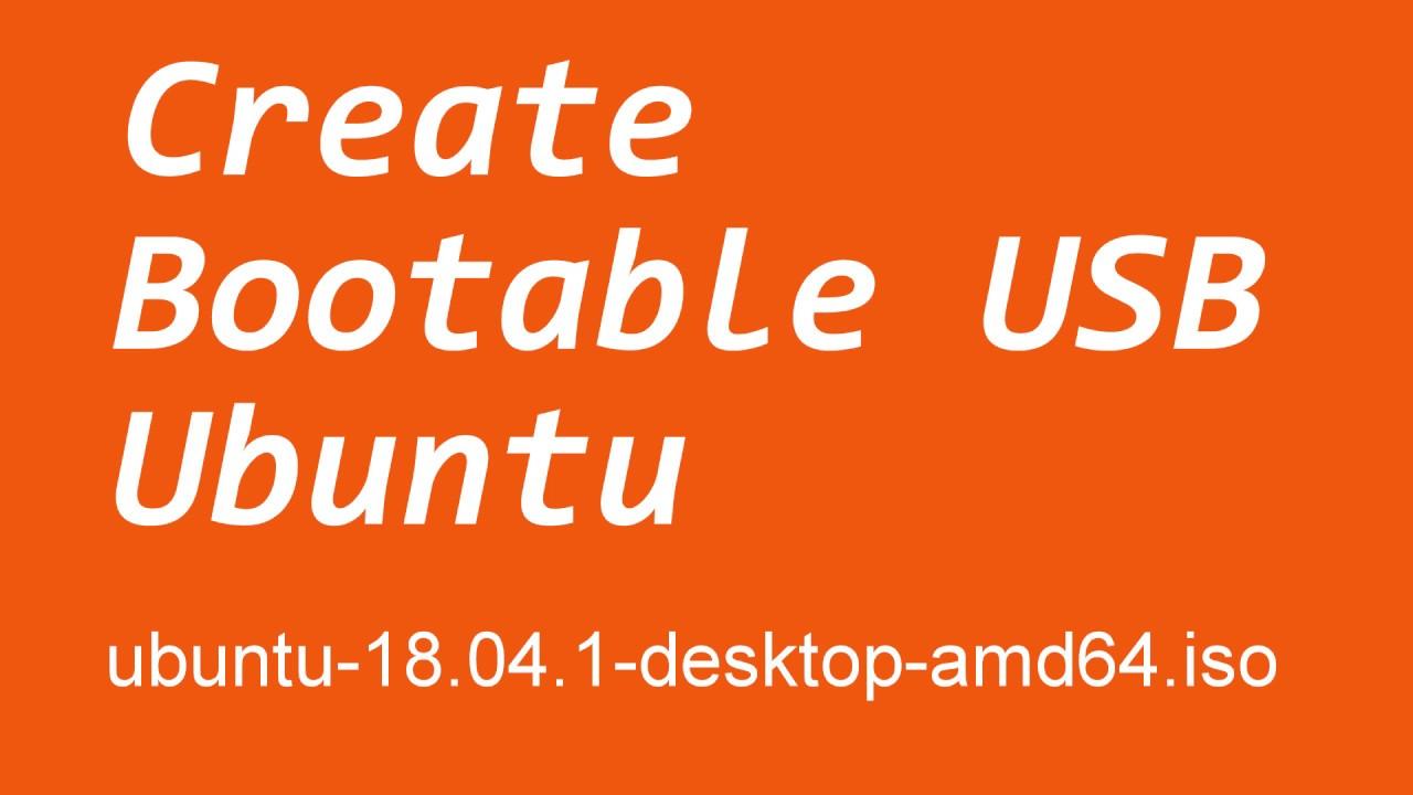 bootable usb - create ubuntu bootable usb flash drive - bootable pendrive  (Hindi)