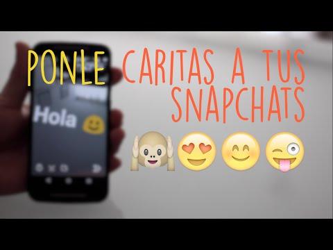 Tutorial | Como Agregar Caritas A Snapchat