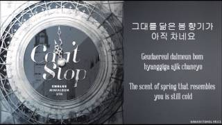 Gambar cover [CNBlue] Can't Stop (Hangul/Romanized/English Sub) Lyrics