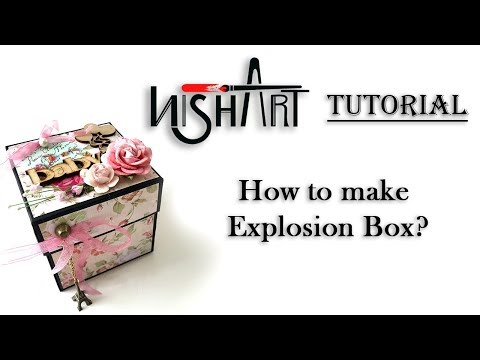 How to make Explosion Box | Handmade Rakshabandhan Gift |  By Nisha Art