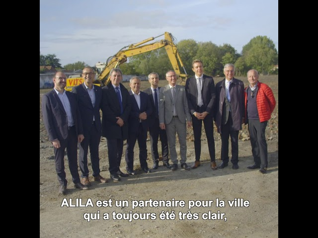 ALILA - Première pierre d'HALL'YS à Halluin (59) - Gustave DASSONVILLE - Maire d'Halluin (1/2)