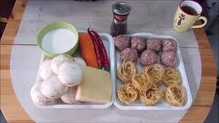 Мясные гнёзда с овощами в сливках.Бюджетное блюдо на обед или ужин. #мангальныесубботы #гнёзда