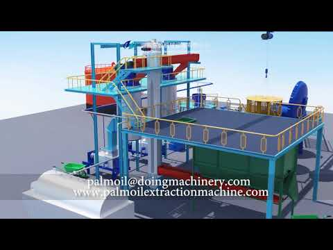 Small Scale Palm Oil Mill Plant 3D Animation(steam Boiler Method)palm Oil Processing Machines