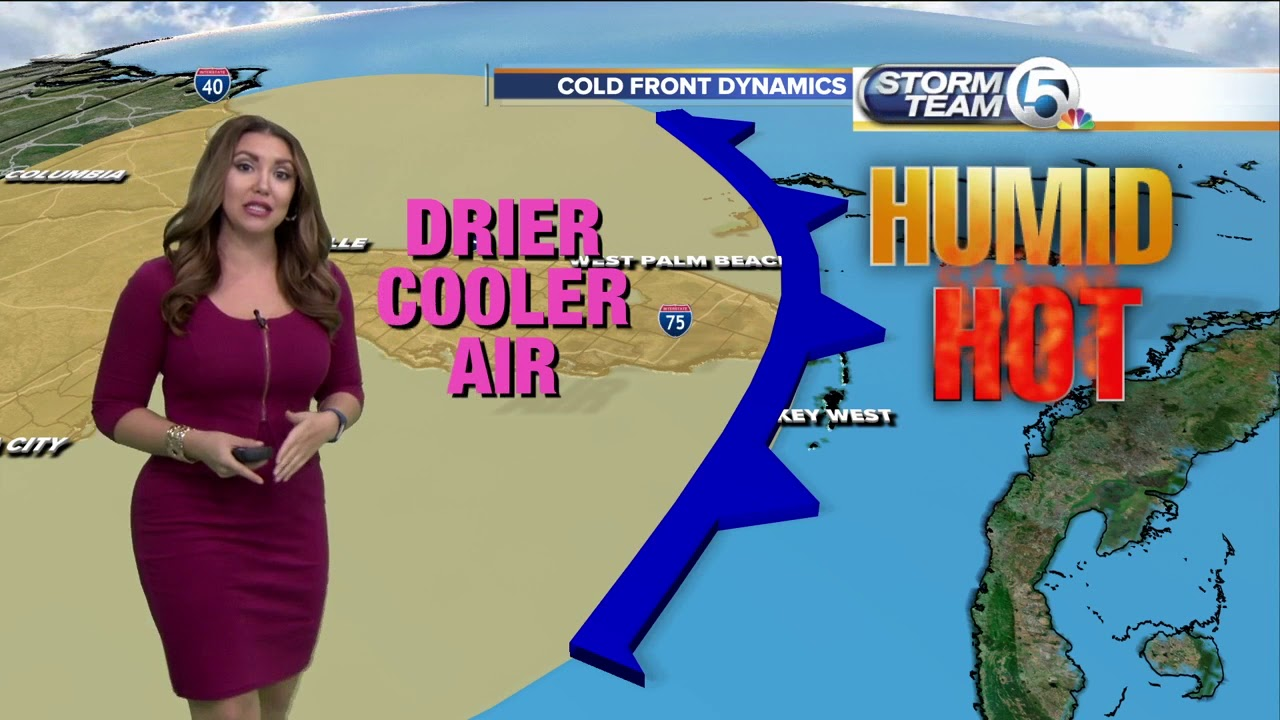Storm Team 5 Meteorologist Felicia Combs explains cold fronts