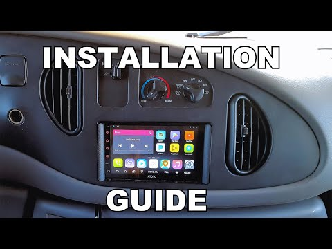INSTALLATION GUIDE: Atoto Android Double Din Head Unit.  Ford Econoline Vans 98 Thru 2006