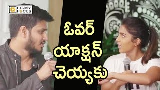 Nikhil Warning to Samyuktha in Live Interview  Exclusive - Filmyfocuscom