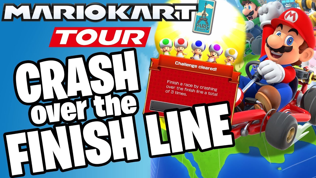 EASY GUIDE How to Crash Across Finish Line in Mario Kart TOUR