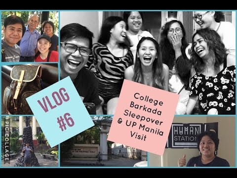 VLOG #6: UP Manila Visit | College Barkada Sleepover | Sausage Party Movie Viewing