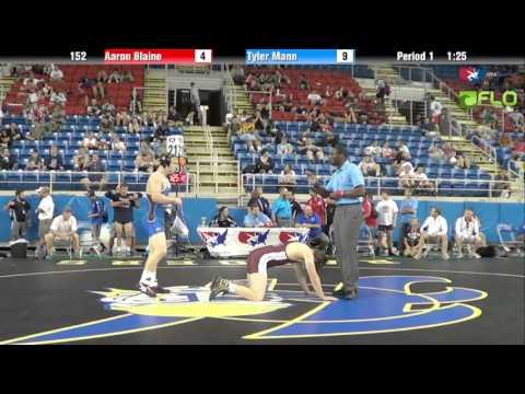 Junior 152 - Aaron Blaine (Washington) vs. Tyler Mann (Arkansas)