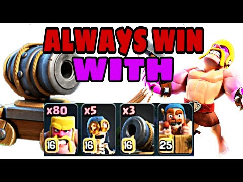 BH8 BEST ATTACK STRATEGY 2018 | ALWAYS WIN WITH BARBARIAN RUSH ATTACK STRATEGY - Clash of Clans