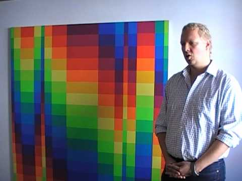 Dr. Hoffmann über ein Kunstwerk von Richard Paul Lohse.MOD
