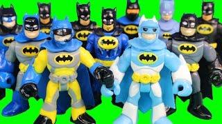 Imaginext Cyborg Holds Justice League Tryouts Batman Battles Injustice League Joker Bane & Team