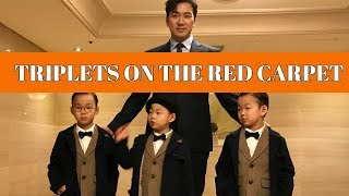 Song Il Gook and The Triplets - 2017 Busan International Film Festival red carpet