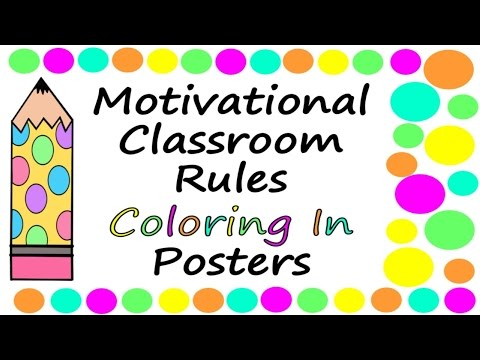 Inspirational And Motivational Coloring In Posters For Students