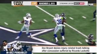 Dez Bryant Lashes Out At Media About Lockette Trash Talking!  -  ESPN First Take
