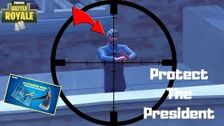 Protect The President!!! *NEW* Custom Game Mode in Playgrounds! Fortnite Battle Royale